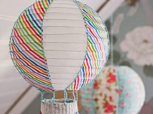 Φτιάξτε εύκολα ένα φωτιστικό αερόστατο και η τεχνική του decoupage!
