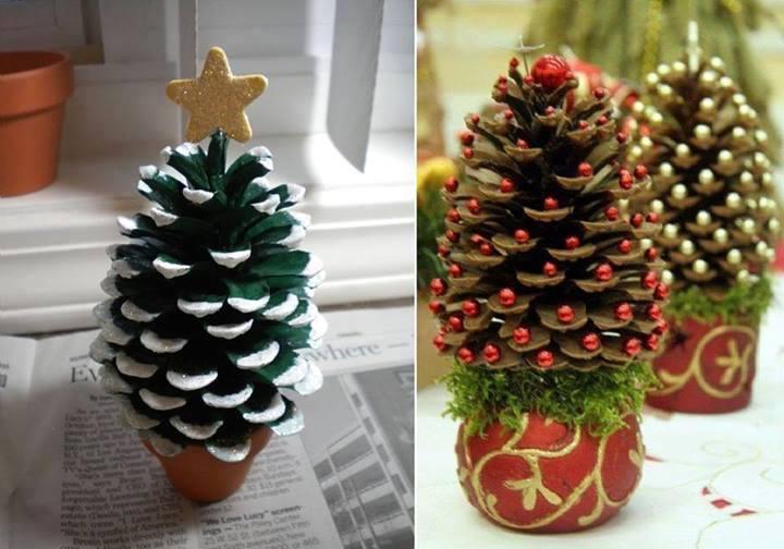 Δημιουργήστε όμορφες κατασκευές με τα παιδιά σας τις γιορτές – Χριστουγεννιάτικα δέντρα από κουκουνάρια